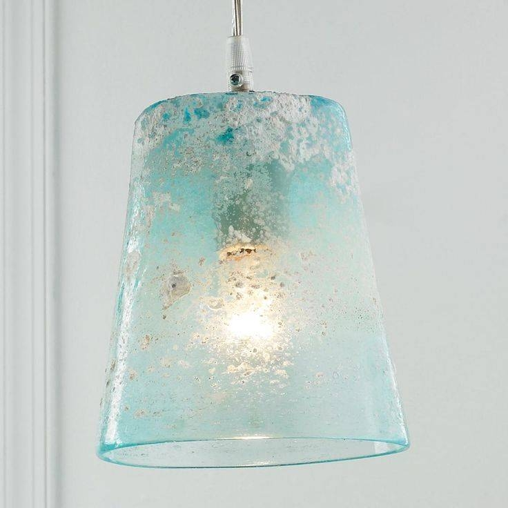 105 Best Sea Glass Lighting Images On Pinterest | Glass Pendants Pertaining To Aqua Glass Pendant Lights (View 7 of 15)