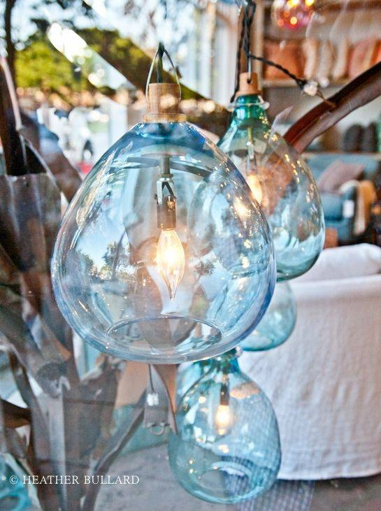 Inspiration about 105 Best Sea Glass Lighting Images On Pinterest | Glass Pendants Pertaining To Hand Blown Glass Pendant Lights Australia (#13 of 15)