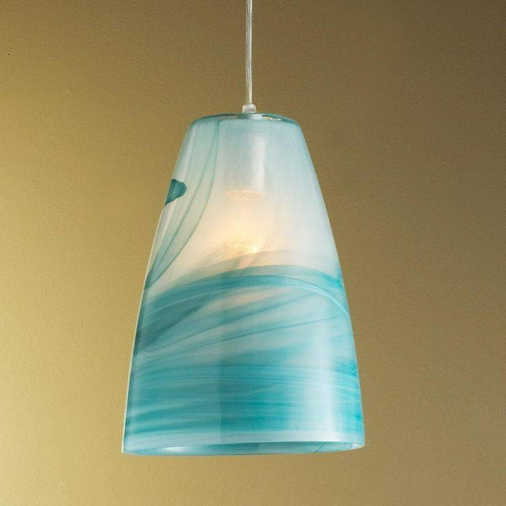 105 Best Sea Glass Lighting Images On Pinterest | Glass Pendants Pertaining To Turquoise Glass Pendant Lights (#1 of 15)