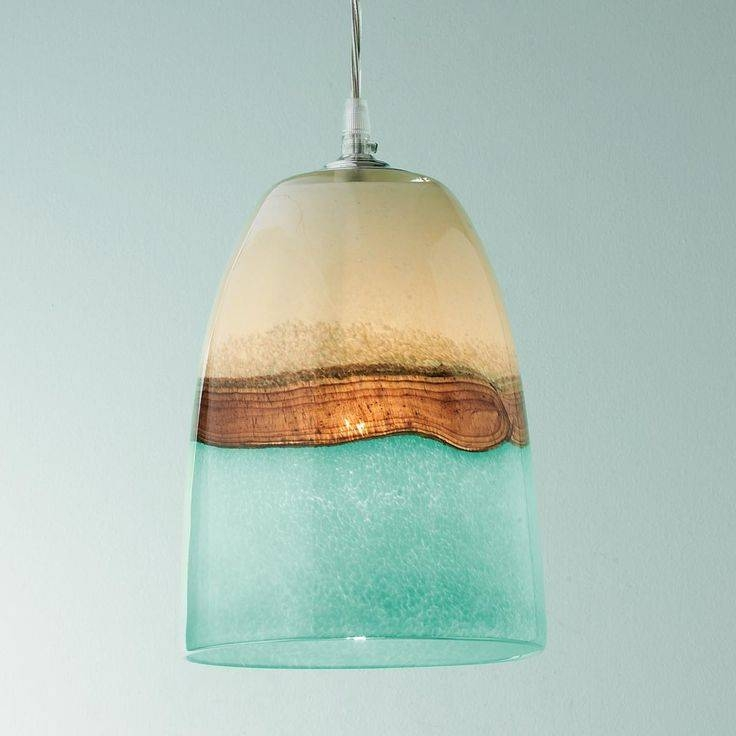 105 Best Sea Glass Lighting Images On Pinterest | Glass Pendants Throughout Aqua Pendant Lights Fixtures (#3 of 15)