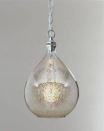 Inspiration about 105 Best Sea Glass Lighting Images On Pinterest | Glass Pendants Throughout Mercury Glass Ceiling Lights (#9 of 15)