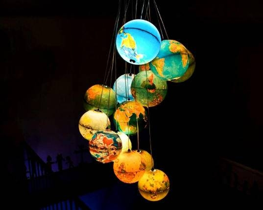 Inspiration about 11 Absolutely Eye Catching Chandeliers | Mental Floss Regarding World Globe Lights Fixtures (#13 of 15)
