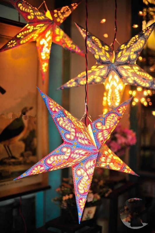 Inspiration about 11 Diy Lanterns That Will Light Up Your Summer | Paper Star Regarding Paper Star Pendant Lights (#8 of 15)