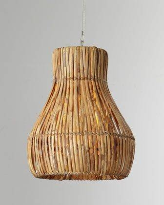 Inspiration about 130 Best Rattan/wicker Pendant Lights Images On Pinterest In Rattan Lights Fixtures (#15 of 15)