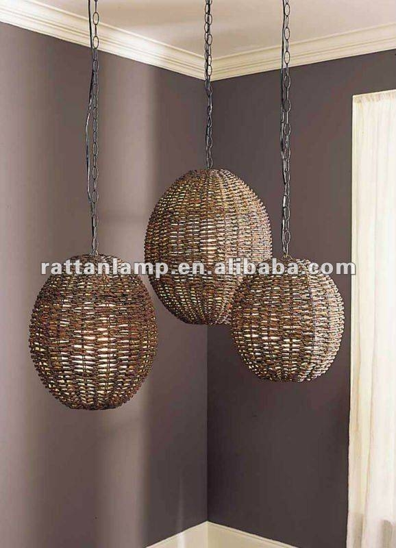Inspiration about 130 Best Rattan/wicker Pendant Lights Images On Pinterest Intended For Rattan Lights Fixtures (#4 of 15)