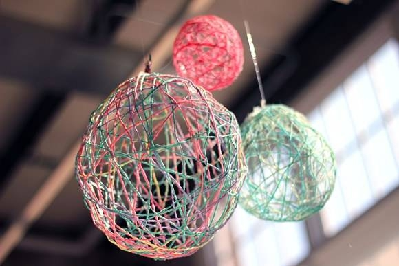 Inspiration about 14 Diy Yarn Lanterns You Can Make | Guide Patterns Intended For Diy Yarn Lights (#8 of 15)