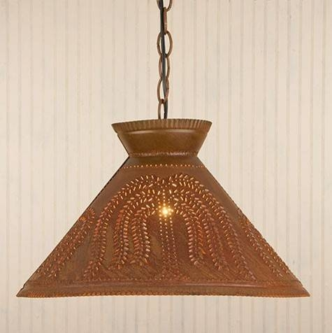 15 75 In W Dark Green Pendant Light With Metal Shade At Lowes Tin Intended For Tin Pendant Lights (#2 of 15)