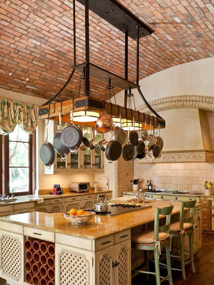 16 Best Pot Racks And Storage Ideas Images On Pinterest | Hanging Regarding Pot Rack Pendant Lights (#3 of 15)
