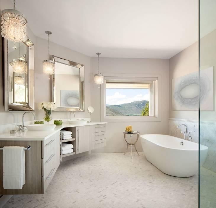 17+ Bathroom Pendant Lighting Designs, Ideas | Design Trends In Bathroom Mini Pendant Lights (#2 of 15)