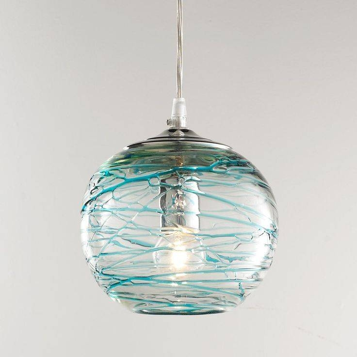 Inspiration about 170 Best Turquoise,teal & Aqua Images On Pinterest | Glass For Turquoise Blue Glass Pendant Lights (#4 of 15)
