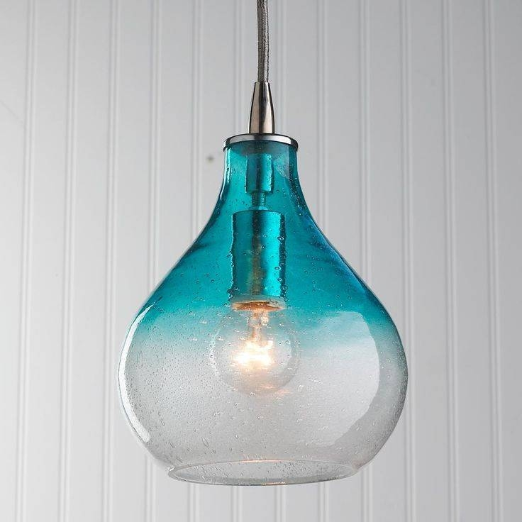 170 Best Turquoise,teal & Aqua Images On Pinterest | Glass With Turquoise Glass Pendant Lights (#5 of 15)