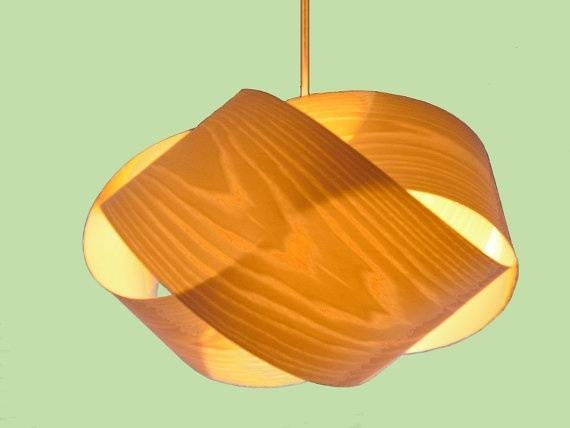 179 Best Lighting Images On Pinterest | Wood Veneer, Lamp Design With Regard To Wood Veneer Pendant Lights (View 3 of 15)