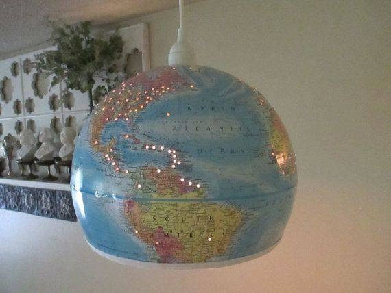 Inspiration about 18 Best World Map Globes Images On Pinterest | Globes, Globe In World Globe Pendant Lights (#10 of 15)