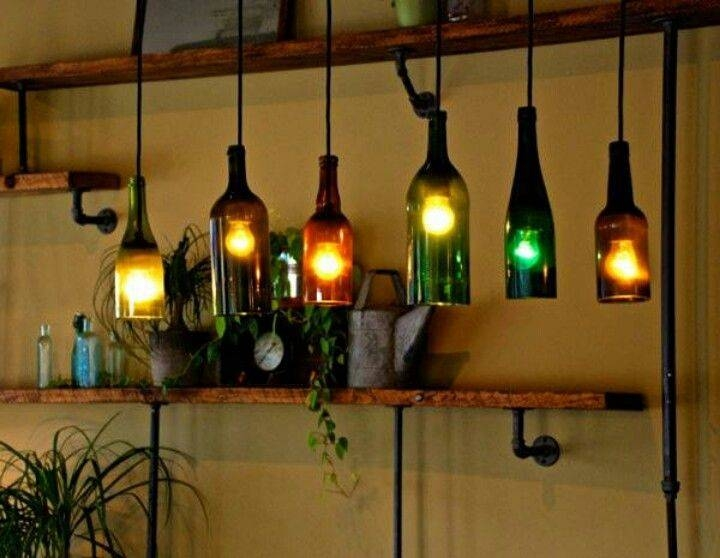 Inspiration about 19 Best Wine Bottle Lights Images On Pinterest | Bottle Lights Intended For Wine Glass Lights Fixtures (#3 of 15)