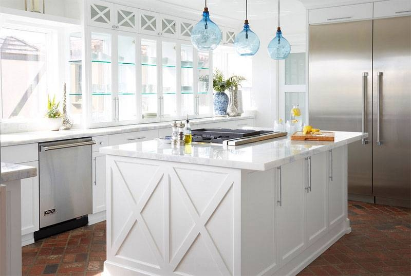 20 Shiny Glass Pendant Lights Giving Aesthetic Glow In The Kitchen For Glass Jug Pendant Lights (#4 of 15)