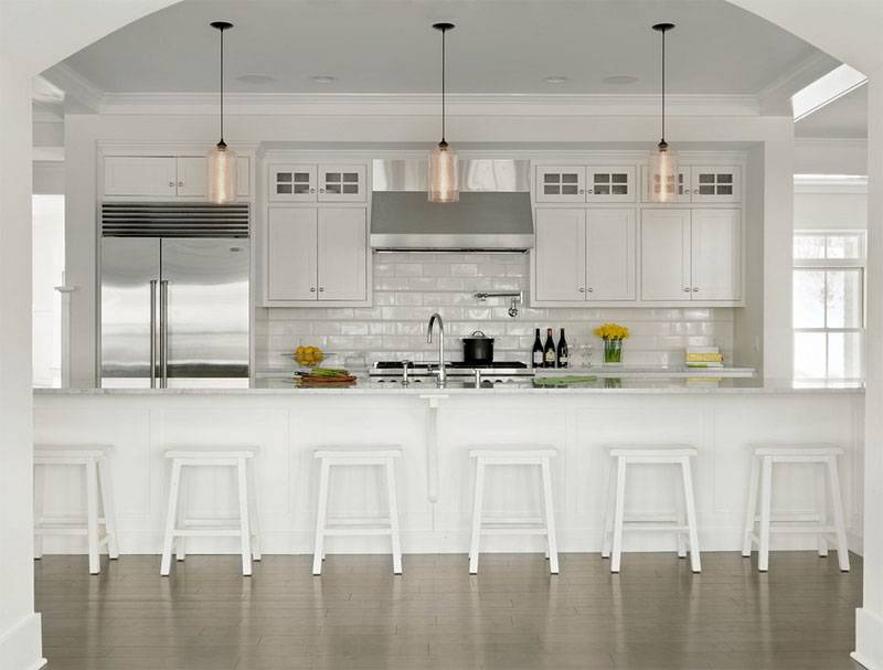 20 Shiny Glass Pendant Lights Giving Aesthetic Glow In The Kitchen For Glass Jug Pendant Lights (View 2 of 15)