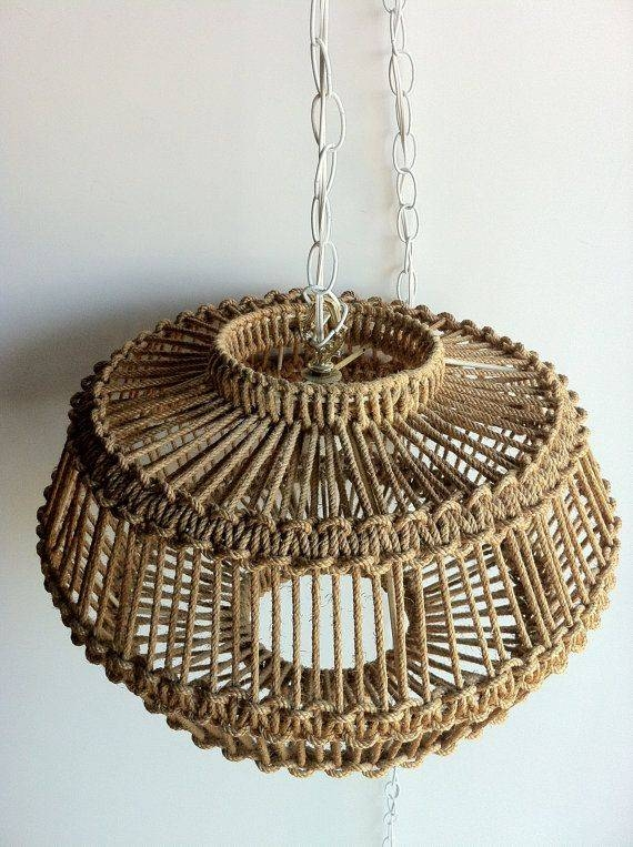 201 Best Lampefeber Images On Pinterest | Lamp Shades, Crafts And Pertaining To Macrame Pendant Lights (#3 of 15)