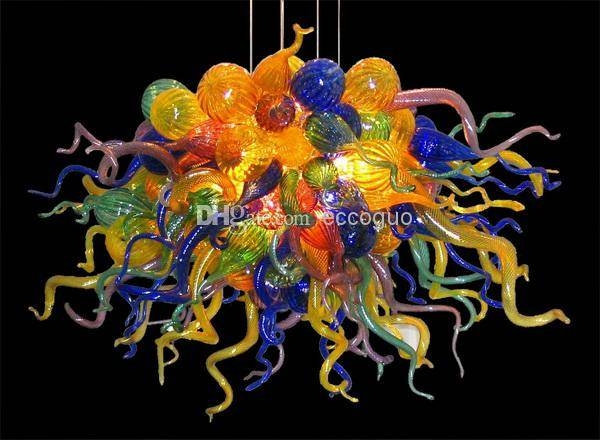 Inspiration about 2017 100% Hand Blown Glass Artistic Chandelier Dale Chihuly Murano In Hand Blown Glass Lights Fixtures (#11 of 15)