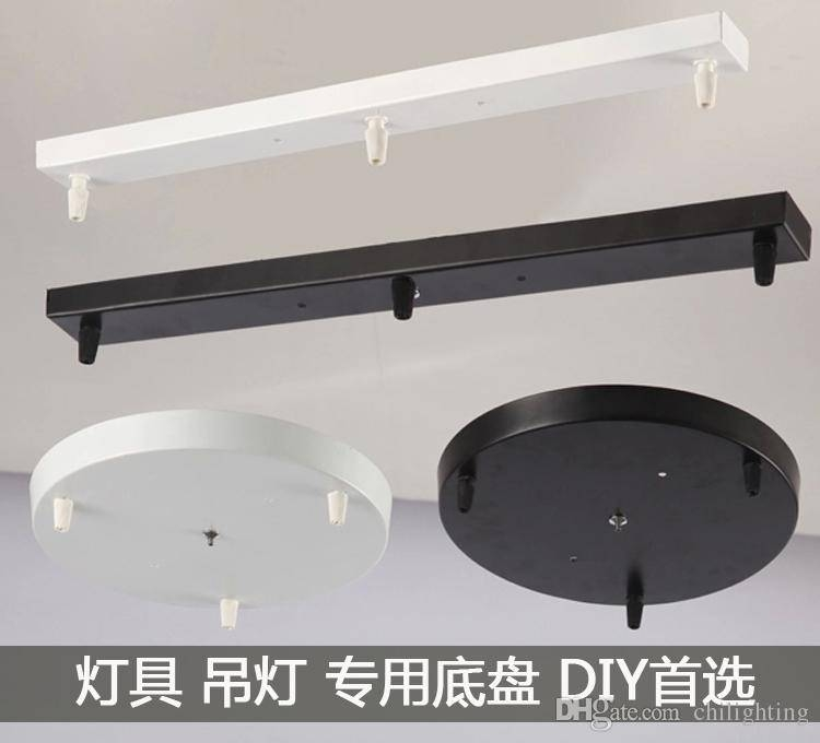 2017 Ceiling Lamp Pendant Lamp Plate Rectangle/ Round Bottom Board Regarding Base Plate Pendant Lights (View 15 of 15)