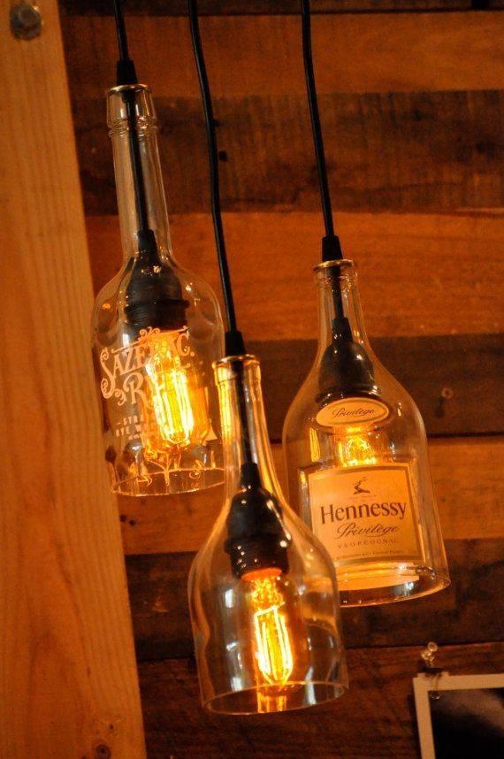 211 Best Lighting Images On Pinterest | Lighting Ideas, Projects Inside Liquor Bottle Pendant Lights (#1 of 15)