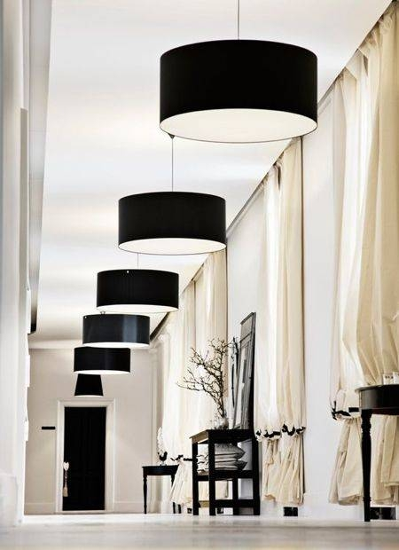 23 Best Black Drum Lamp Shade Images On Pinterest | Drum Lamp Intended For Black Drum Pendants (View 7 of 15)