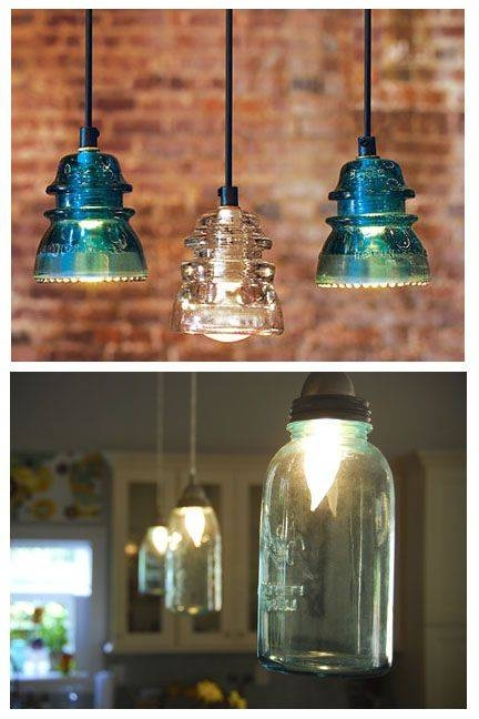 249 Best Repurposing – Lights Images On Pinterest | Home, Projects Within Insulator Pendant Lights (View 1 of 15)