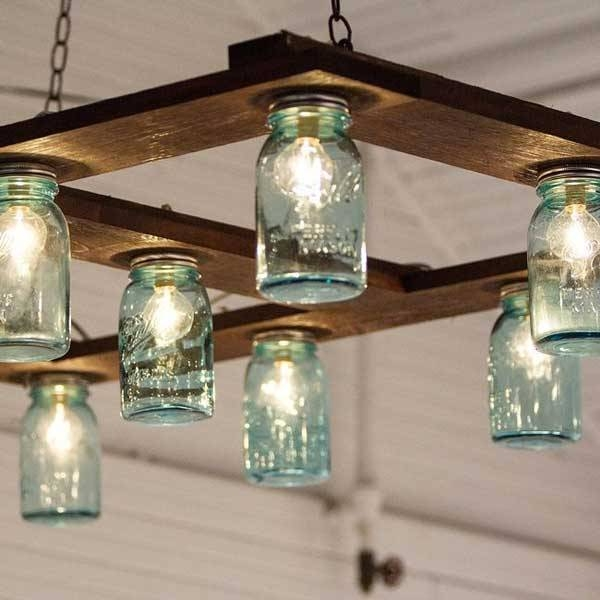 25 Mason Jar Projects That Are Easy And Fun To Do | Diy Cozy Home In Blue Mason Jar Lights Fixtures (#2 of 15)