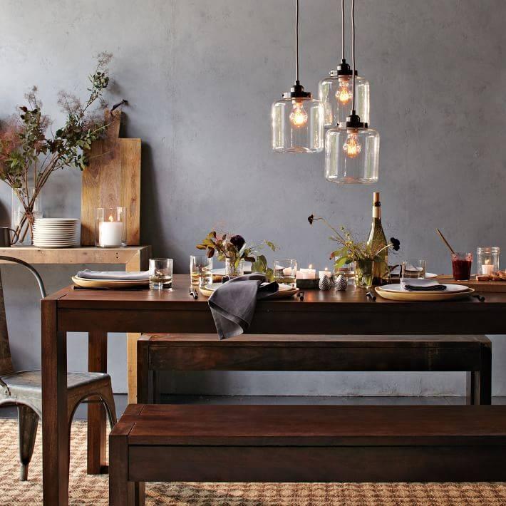 Inspiration about 3 Jar Glass Chandelier | West Elm Regarding Paxton Glass 3 Light Pendants (#10 of 15)