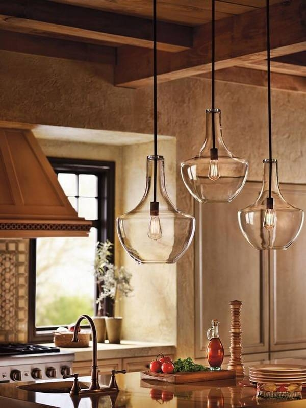 Inspiration about 30+ Awesome Kitchen Lighting Ideas 2017 In Rustic Clear Glass Pendant Lights (#5 of 15)