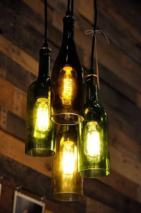 Inspiration about 32 Incredible Ways Of Creating Beauty Out Of Things You Are Pertaining To Liquor Bottle Pendant Lights (#7 of 15)