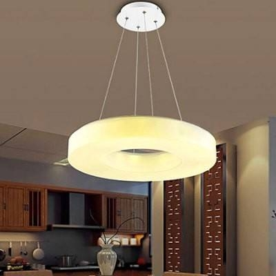 3200Lm Led Remote Controlled Pendant Light Regarding Remote Control Pendant Lights (#2 of 15)