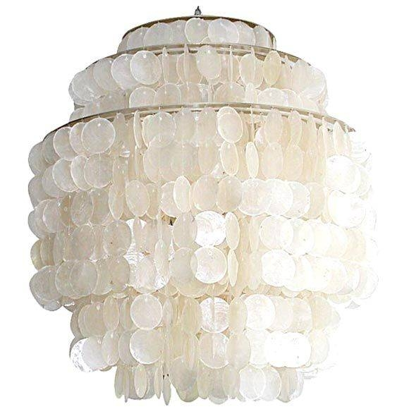 Inspiration about 37 Best Capiz Shell Lighting Images On Pinterest | Shells Pertaining To Shell Lights Shades Pendants (#14 of 15)