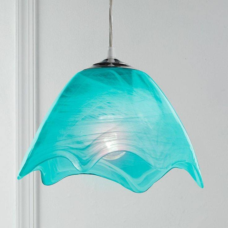 Inspiration about 41 Best Fused Glass Lights Images On Pinterest | Glass Lights Throughout Aqua Glass Pendant Lights (#13 of 15)