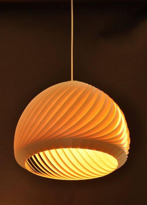Inspiration about 41 Best Wood Veneer Light Images On Pinterest | Wood Veneer Pertaining To Wood Veneer Lighting Pendants (#5 of 15)