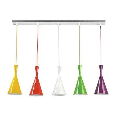 Inspiration about 5 Cones Pendant Light Ceiling Multi Coloured With Elegant Design Throughout Multi Coloured Pendant Lights (#7 of 15)