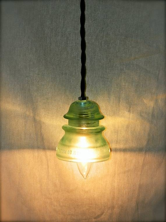 Inspiration about 533 Best Antique Glass Insulator Ideas Images On Pinterest | Glass With Antique Insulator Pendant Lights (#9 of 15)