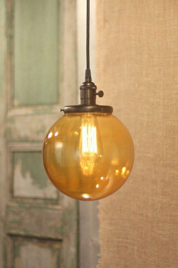 Inspiration about 54 Best Orange Pendant Lights Images On Pinterest | Pendant Lights Intended For Orange Glass Pendant Lights (#12 of 15)