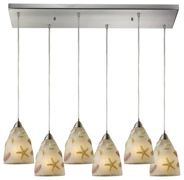 6 Bulb Pendant Light – Beach Style – Pendant Lighting Zeckos Intended For Beach Style Pendant Lights (View 10 of 15)
