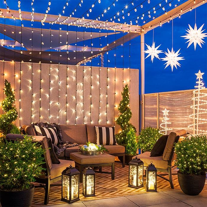 Inspiration about 6 Christmas Lighting Ideas For A Porch, Deck Or Balcony With Lowes Outdoor Hanging Lights (#4 of 15)