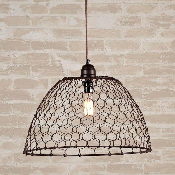 Inspiration about 63 Best Light Shades Images On Pinterest | Light Shades, Lighting In Chicken Wire Pendant Lights (#11 of 15)