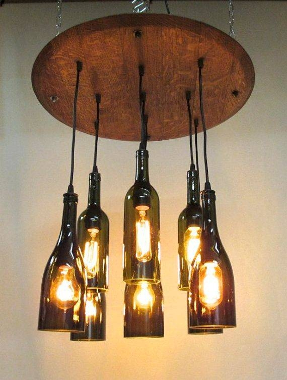 Inspiration about 69 Best Bottle Inspiration Images On Pinterest | Bottle Lights In Wine Bottle Ceiling Lights (#6 of 15)