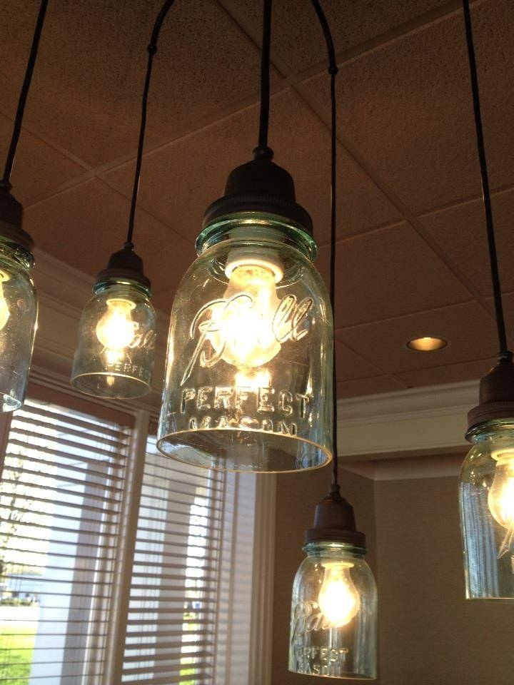 69 Best Mason Jar Lights Images On Pinterest | Mason Jar Lighting Inside Blue Mason Jar Lights Fixtures (#3 of 15)
