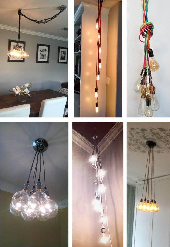 7 Cluster Pendant Light Multi Pendant Chandelier Light For Hanging Plugin Pendant Lights (View 10 of 15)