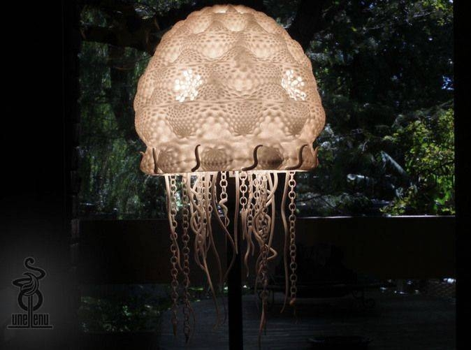8 Best Jellyfish Lamp A 3D Printed Creation Images On Pinterest Within Jellyfish Lights Shades (#2 of 15)