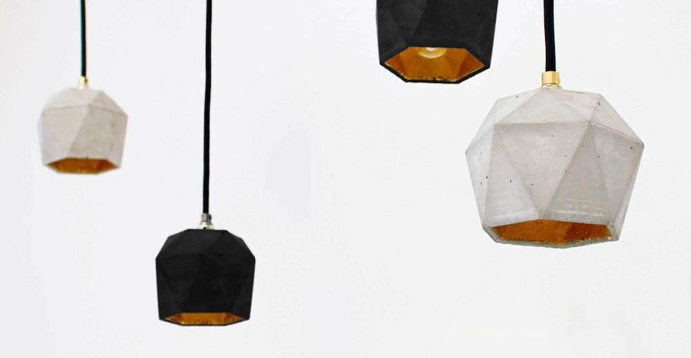 8 Handmade Minimalist Concrete Creations For Sale On Etsy – Homeli With Diy Concrete Pendant Lights (#1 of 15)