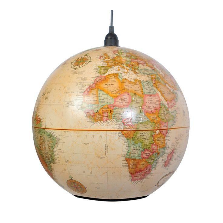 80 Best World Globes Lights Images On Pinterest | World Globes Regarding World Globe Pendant Lights (View 15 of 15)