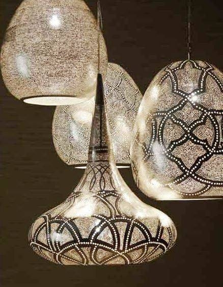 Inspiration about 98 Best Lights Images On Pinterest | Pendant Lights, Glass For Punched Metal Pendant Lights (#6 of 15)