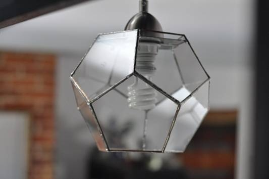 Abj Glassworks: Three Dimensional Stained Glass Art: Custom With Dodecahedron Pendant Lights (View 8 of 15)