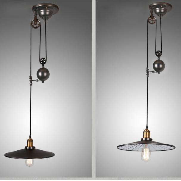 Adjustable Pendant Light – Sl Interior Design Intended For Pulley Adjustable Pendant Lights (#1 of 15)