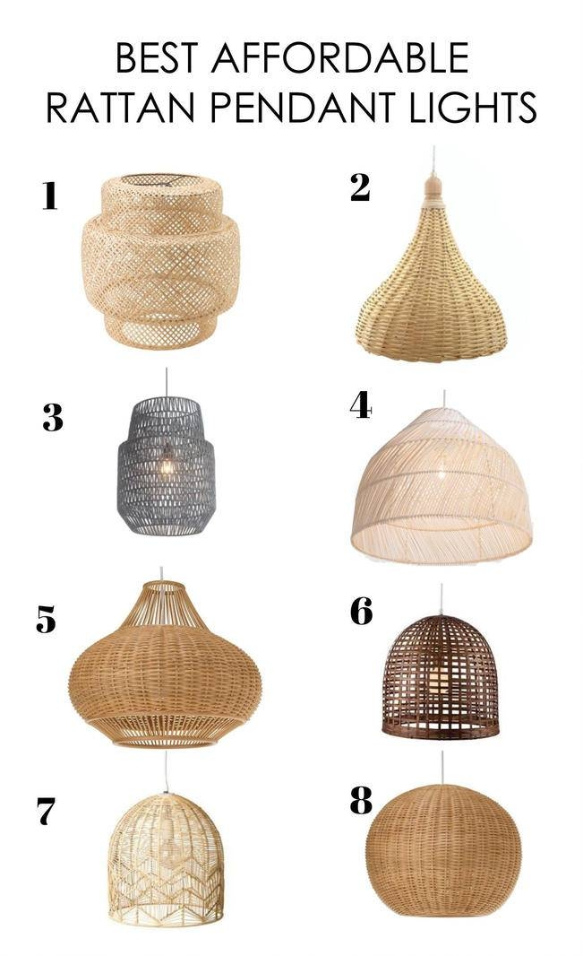 Affordable Rattan Pendant Lights | Cat Chambers Design | Blog Intended For Rattan Pendant Lighting (#4 of 15)